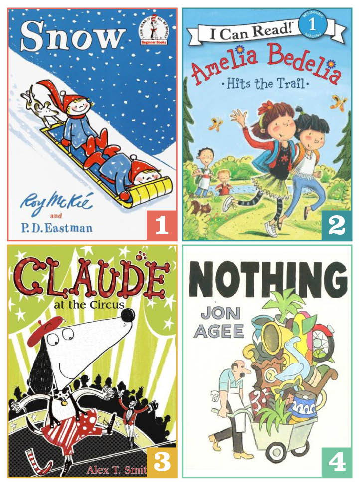snow, amelia bedelia, claude, nothing