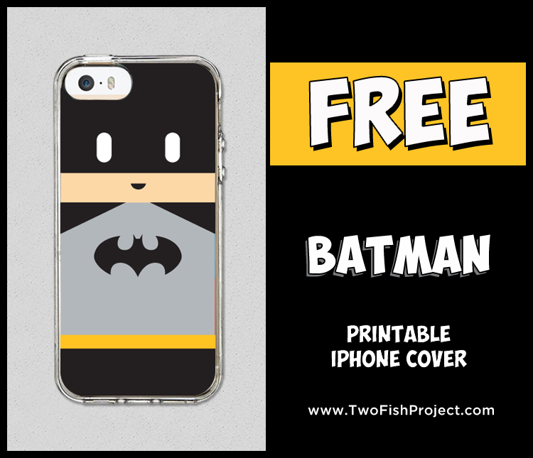 Free printable Batman iPhone cover